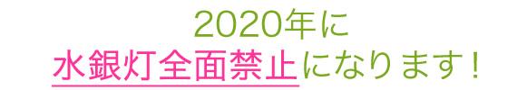 2020年に水銀灯は全面禁止になります