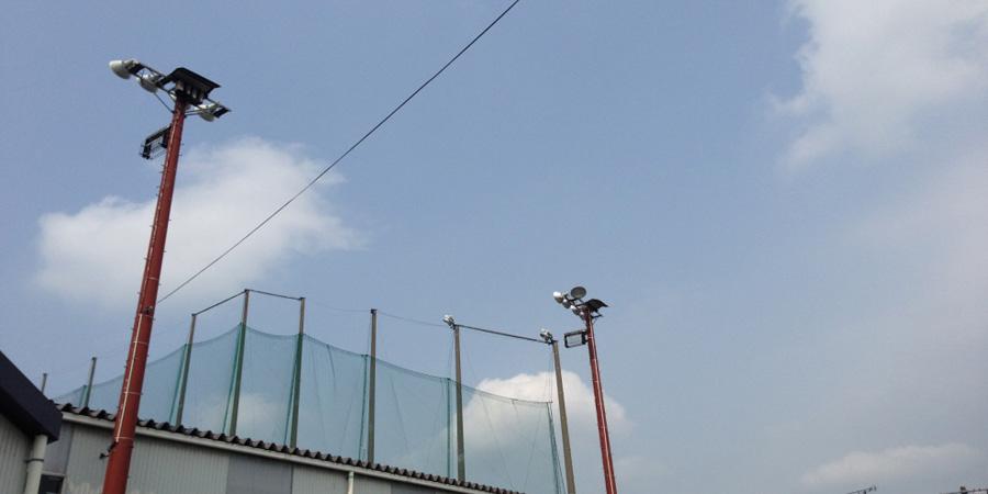 長岡市:ゴルフ場 水銀灯からLED照明に交換工事前の様子